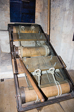 A torture rack in the Tower of London A Torture Rack.jpg