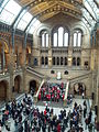 A choir of Natural History Museum, Science Museum and Victoria and Albert museum staff members sing carols in the central hall of the Natural History Museum 04.jpg