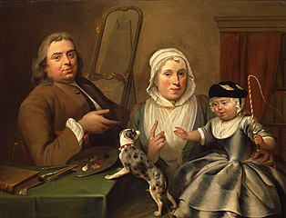 Portrait of the painter Albert the Jonck, his wife Maria and their son William Verpoorten