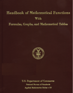 image illustrative de l'article Handbook of Mathematical Functions