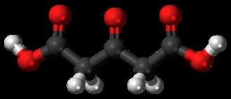 Acetonedicarboxylic acid - Image: Acetonedicarboxylic acid 3D balls