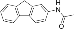 Kekulé, skeletal formula of 2-acetylaminofluorene