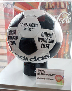 Adidas Telstar ball used in the 1970 FIFA World Cup
