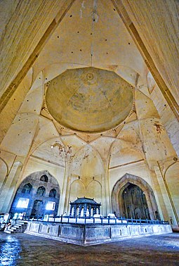Vaults and dome of the Gol Gumbaz Adil Shah's Tomb, Inside Gol Gumbaz, Bijapur, Karnataka.jpg