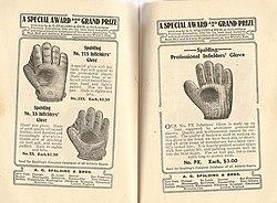 Spalding baseball glove dating chart
