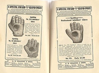 Baseball glove - Image: Advertisement Infielders Baseball Gloves Spalding 1905