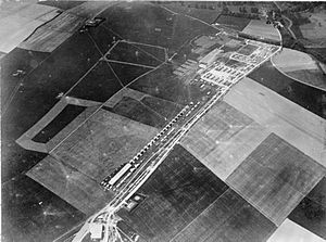 "Netheravon Airfield - ""Concentration Camp"" at RFC Netheravon, June 1914"