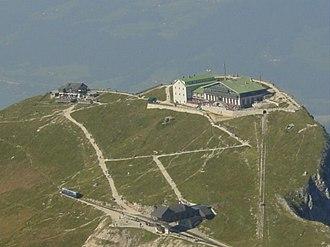 Schafberg (Salzkammergut) - Image: Aerial photo of Schafberg 2