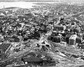 Aerial view of Bridge Street overpass project, June 1951.jpg