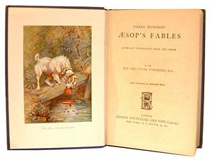 Title page of Three Hundred Aesop's Fables