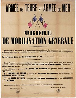 French entry into World War I