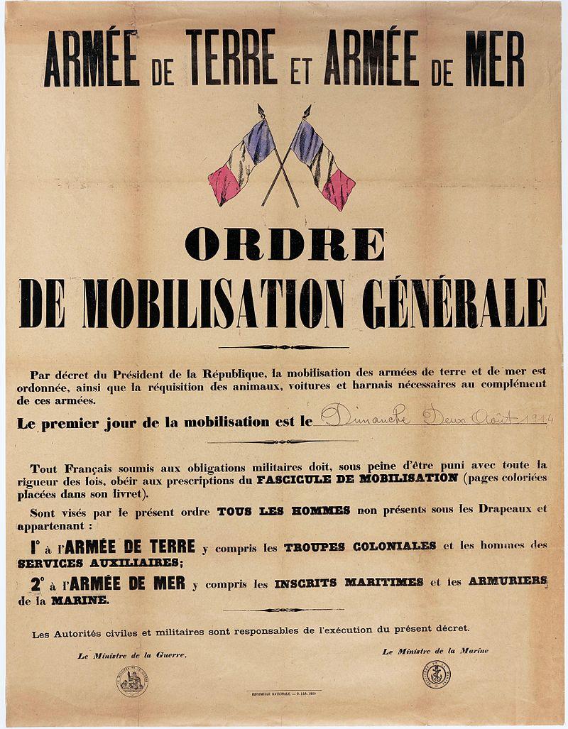 Ordre de mobilisation générale - Recrutement - Conscription - Armée - Première Guerre mondiale - SchoolMouv - Histoire - CM2
