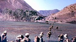 Afghanistan – 5th CO 350th Airbn. Rgt. heli takes off.jpg