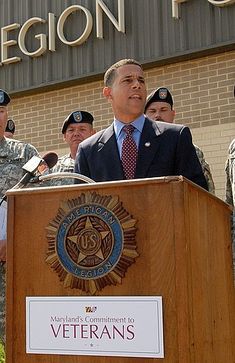 Anthony G. Brown - Lt. Governor Brown announcing the launch of 'Maryland's Commitment to Veterans' tour, September 2008