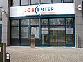 Agentur für Arbeit Hannover und der Region Hannover, Jobcenter Region Hannover, Vahrenwalder Straße 245, 30179 Hannover, Schriftzug über dem Eingang, mittwochs geschlossen.jpg