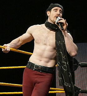 Aiden English WWE Axxess 2014.jpg