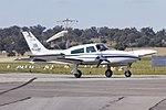 Air-Link (VH-JMP) Cessna 310R taxiing at Wagga Wagga Airport (1).jpg