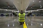 AirBaltic Bombardier CS300 mainenance (32406530523).jpg