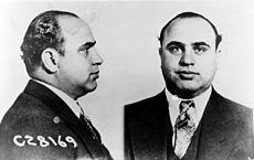 Photos prises lors de l'arrestation de Capone par la police