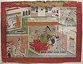 Alauddin Khilji Conquering Ranthamore Fort, Kangra school, watercolor, Tokyo National Museum.JPG