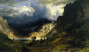 1866 in art - Albert Bierstadt, Storm in the Rocky Mountains, Mount Rosalie