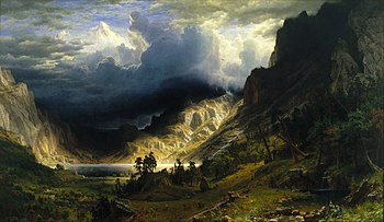 Rocky Mountains beneath a thunderstorm
