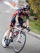 Valverde in una cronometro del Tour de Romandie 2010, da lui vinto e successivamente revocatogli