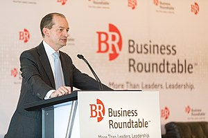 Business Roundtable - U.S. Secretary of Labor Alexander Acosta addressing the Business Roundtable in June 2017