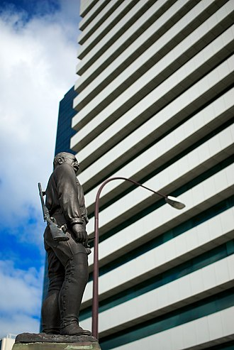 Citibank House - Image: Alexander Forrest statue with Citibank House