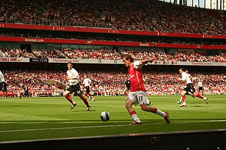 Chris Baird - Baird making his Fulham debut, as he defended against Arsenal's Alexander Hleb.