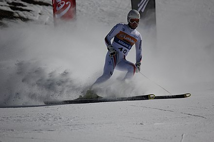 Alexandr Alyabyev of Russia. 2013 IPC Alpine World Championships at La Molina in Spain. Day 2 of competition. Super-G final. Alexandr Alyabyev.JPG