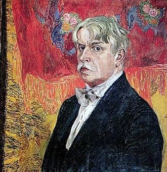 1930 in fine arts of the Soviet Union - Image: Alexandr Golovin self portrait