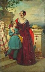 Portrait of I.V. Durnovo with Her Son