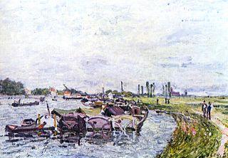 Péniches at Saint-Mammès
