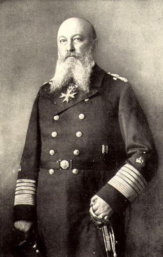 Order of the Red Eagle - Großadmiral Alfred von Tirpitz, wearing his Order of the Red Eagle, Grand Cross