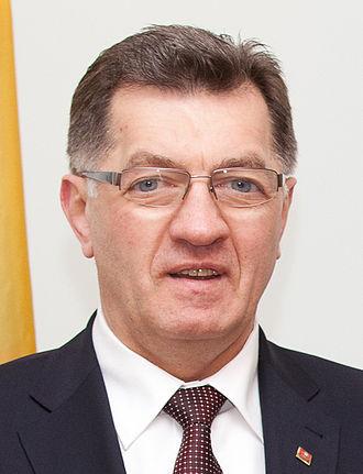 2012 Lithuanian parliamentary election - Image: Algirdas Butkevičius 2013 01 10