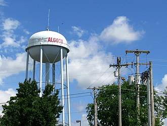 Algood, Tennessee - Image: Algood water tower tn 1