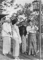 Ali Jugo, Lies Noor, Raden Ismail, Bambang Hermanto, and Prana Djaja with bird, Aneka Amerika 102 (1957), p7.jpg