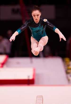 Aliya Mustafina - Mustafina at an Artistic Gymnastics World Cup event in Paris in 2011.