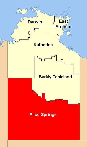 Central Australia - Location of the Alice Springs Region
