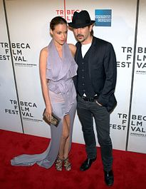 Alicja Bachleda-Curuś e Colin Farrell al Tribeca Film Festival, nel 2010.
