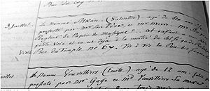 Charles-Valentin Alkan - Report on Alkan's 1819 solfège audition at the Paris Conservatoire. (Archives Nationales, Paris)