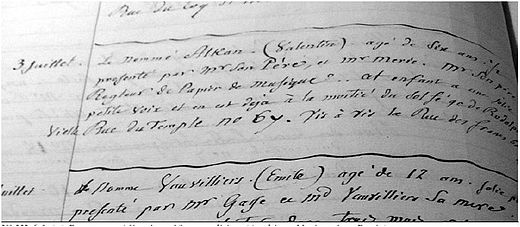 Report on Alkan's 1819 solfege audition at the Paris Conservatoire. (Archives Nationales, Paris) Alkan report.JPG