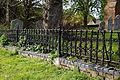 All Saints Church churchyard fence at High Laver Essex England.jpg