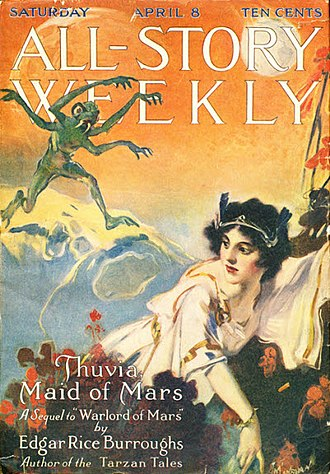 Thuvia, Maid of Mars - Thuvia, Maid of Mars was serialized in All Story Weekly in 1916.