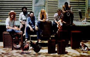 "Brothers and Sisters (album) - The Allman Brothers Band at ""the Farm"" in Juliette, Georgia, 1973."