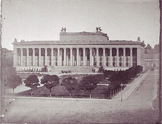 Altes Museum - Historical photograph of the Altes Museum, before 1854