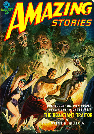 "Walter M. Miller Jr. - Miller's novella ""The Reluctant Traitor"" was the cover story for the January 1952 issue of Amazing Stories"