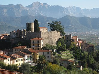 Ameglia - Ameglia Castle and Apuan Alps