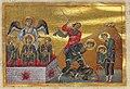 Ananias, Azarius and Misael (Menologion of Basil II).jpg